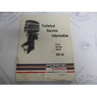 OB4663-1 Mercury Force Outboard Technical Service Information Manual 1991-92