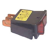 RK21890 Sierra Boat Red Illuminated Rocker Switch OFF-ON SPST