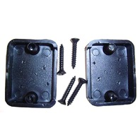 Rig Rite Boat Depth Finder Decorative Wire Hole Cover Black #650 Pair