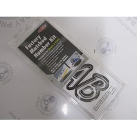 "SIBKG400 Hardline 3"" Boat Lettering Registration Decal Kit Silver/Black"