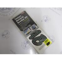 """TEBKG400 Hardline 3"""" Custom Boat Lettering Decal Kit Forest Green/Black"""