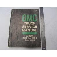 X-6732 1966 GMC Truck Service Manual Series 1500-3500