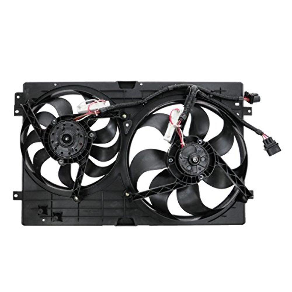 Dual Cooling Fan Assembly 99-05 Vw Jetta 1.8L/1.9L HD/2.0L, 99-05 Vw Golf 1.8L/1.9L/2.0L, 00-03 Audi TT 180HP, 05-06 Audi TT 1.8L 225HP