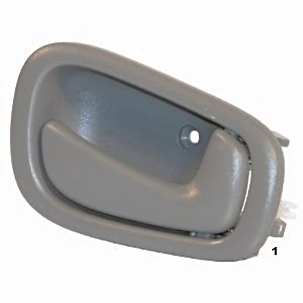 98 02 corolla prism right pass manual front rear interior door handle grey busted auto parts