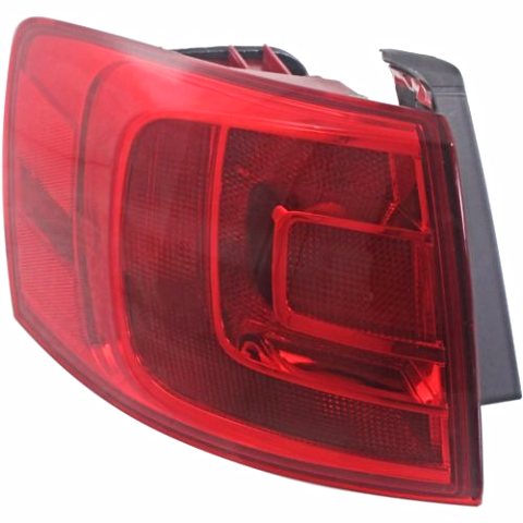 FITS 13-14 VW JETTA HYBRID LEFT DRIVER TAIL LAMP QUARTER MOUNTED W/O LED LIGHT