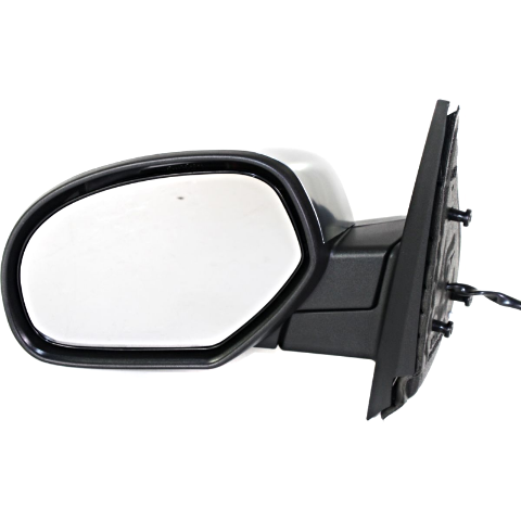 Fits 07-14 Silverado, Sierra Left Driver Mirror Assembly Chrome, Heat