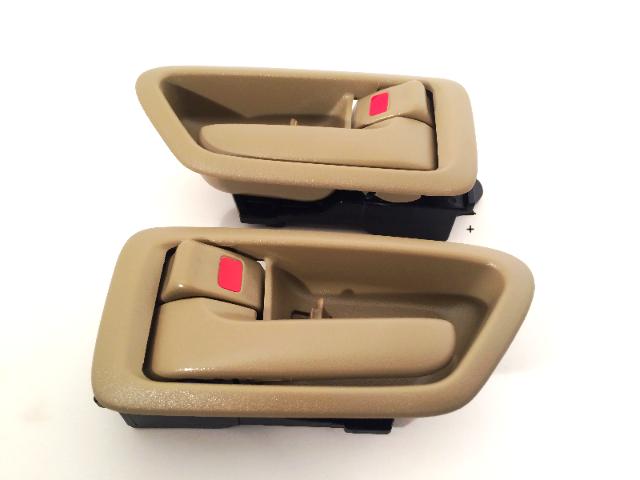 Fits 97-01 Camry Left & Right Set Front /Rear Interior Door Handles w/ Bezel Tan