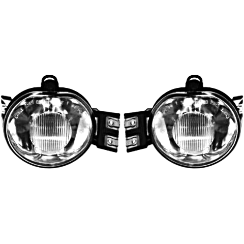 Fits 02-08 Ram 1500 & 03-09 2500 & 03-10 3500 Pickup Left & Right Fog Lamp Set