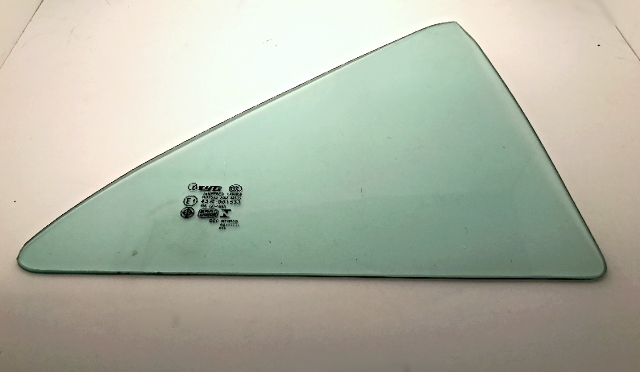 Fits 12-14 Toy Camry Right Passenger Side Rear Door Fixed Vent Window Glass