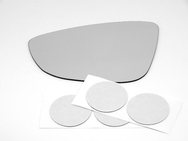 Fits 11-15 Jetta, (2 Style Type) Left  Mirror Glass Lens excludes Station Wagon