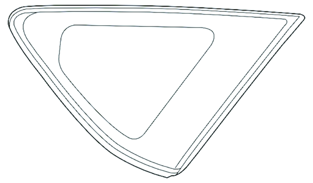 """Fits 12-15 Toy Prius """"V"""" Right Rear Fixed Quarter  Glass Window OE"""