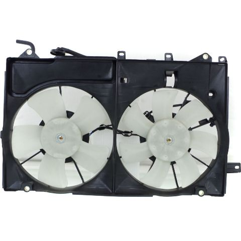 Fits 04-09 Prius Dual Cooling Fan Assembly With Coolant Reservoir