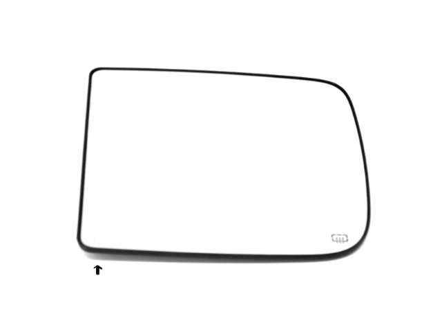 Fits 10-14 Ram 1500 2500 3500 Left Dr Heat Upper Flip Up Tow Mirror Glass w/Back Plate OE