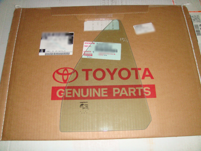 Fits 14-17 Toy Corolla Right Pass Side Window Rear Door Fixed Vent Glass OE