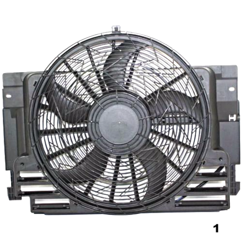 Condenser Fan Assembly Fits 00-06 BMW X5
