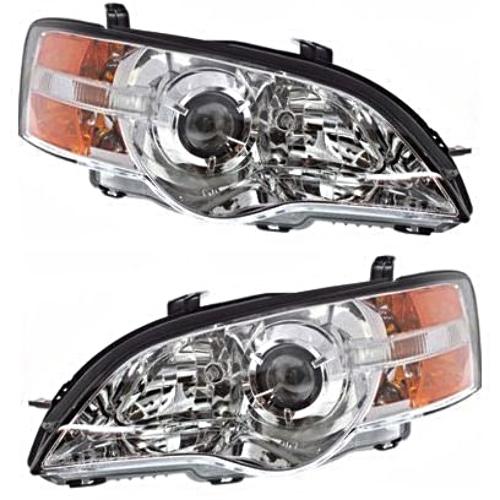 Fits 06-07 Subaru Legacy / Outback Left Driver & Right Pass - Set Headlamp Assem
