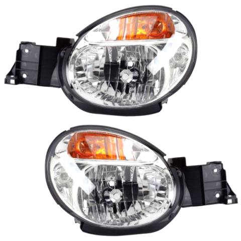 Fits 02-03 Subaru Impreza Left Driver & Right Passenger Headlamp Assembly - Set