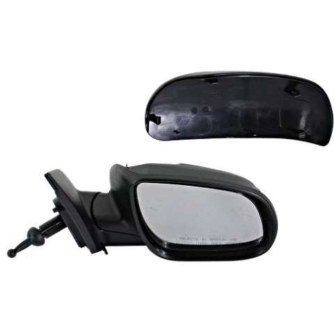 Fits 06-09 Hyundai Accent Right Pass Mirror Manual Remote Non-Painted No Heat