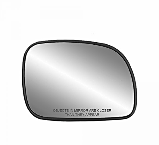 Fits 96-07 Caravan, Town & Country Right Pass Heated Mirror Glass w/Rear Holder