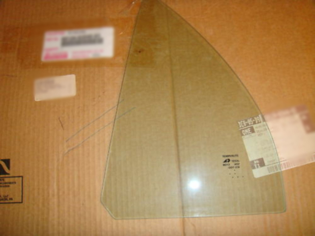 Fits 98-02 Toy Corolla  Right Pass Side Rear Vent Triangle Window Glass