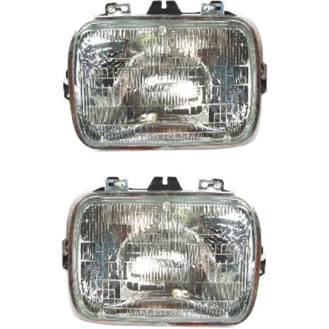 Sealed Beam Headlight Fits 96-18 Chevy Express, GMC Savana Van Left & Right Set