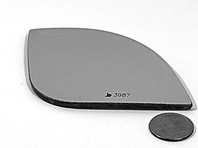 Fits 15-17 Sienna Right Passenger Small Spot Mirror Glass Lens as Pictured