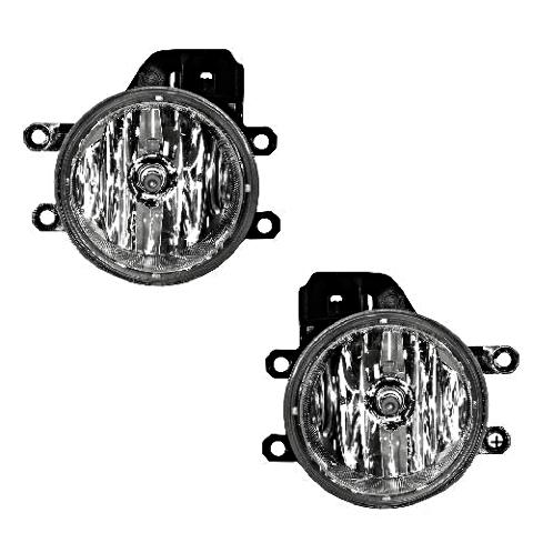 Left & Right Replacement Fog Light Assemblies for 12-18 Various Toyota / Lexus