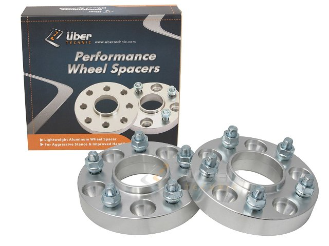 """2pc UberTechnic Hubcentric 20mm (3/4"""") Silver Wheel Spacers 60.1mm bore, 5x114.3 for Toyota Avalon, Camry, Supra, MR2, Scion Tc, xB Lexus ES300 ES330 ES350 IS250 IS300 IS350 GS300 GS350"""