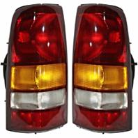 Fits 01 GMC Sierra C3 Fleetside Pickup/02-03 GMC Sierra Denali Fleetside Pickup Left & Right Set Tail Lamp Unit Assemblies