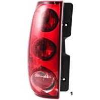 Fits 07-14 GMC Yukon/ Denali 07-11 XL/Denali Left Driver Tail Lamp Assembly w/out Black Bezel Excludes Hybrid
