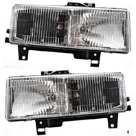 Fits 96-02 Chevy Express & GMC Savana Left & Right Composite Headlamp  (pair)