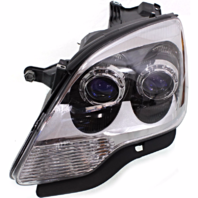 Fits 07-08 GMC Acadia Left Driver Halogen Headlamp Assembly With Blue Lens