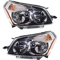 Fits 09-10 Pontiac Vibe Left & Right Headlamp Assemblies - pair