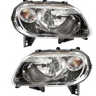 FIts 07-10 Chevy HHR Left & Right Headlamp Assemblies w/tinted lens (pair)
