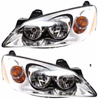 Fits 05-10 Pont. G6 Left & Right Headlamp Assemblies w/amber signal - pair