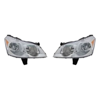 Fits 09-12 Chev Traverse Left & Right Headlight Assm WithOut Projector Beam-Set
