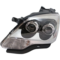 Fits 08-12 GMC Acadia Left Driver Halogen Headlamp Assembly With CLear Lens