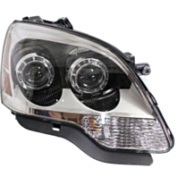 Fits 08-12 GMC Acadia Right Passenger Halogen Headlamp Assembly With Clear Lens