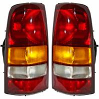 99-02 Chevrolet Silverado Fleetside Pickup/99-03 GMC Sierra Fleetside Pickup Left & Right Set Tail Lamp Unit Assemblies Exc 3500