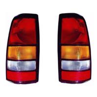 Fits 04-06 GMC Sierra 1500 Fleetside / 07 Sierra 1500 Classic Left & Right Set Tail Lamp Unit Assemblies