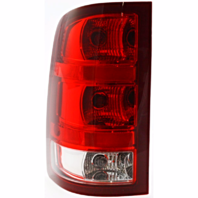 Fits 07-13 GMC Sierra 1500 07-14 2500 3500 Left Driver Tail Lamp Assembly w/Red Border EXC Dual Rear Wheels
