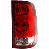 Fits 07-13 GMC Sierra 1500  / 07-14 GMC Sierra 2500, 3500  Right Pass Tail Lamp Assm w/Red Border W/Single Wheel Exc Denali