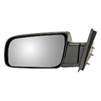 Fits 88-99 Chevrolet GMC C/K Pickup Left Driver Mirror Manual Unpainted Fold