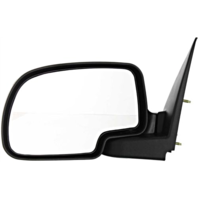 Fits 99-07 Silverado Sierra Left Driver Mirror Manual Fold Textured Black