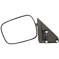 Fits 88-00 Chevrolet GMC C / K Pickup Left Driver Mirror Manual Unpainted Black