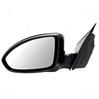 Fits 11-15 Cruze 16 Cruze Limited Left Driver Mirror Power Unpainted Black