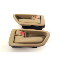 97-01 Camry Left & Right Set Front / Rear Interior Door Handles w/ Bezel Tan