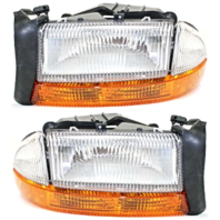Fits 97 Dodge Dakota / 98 Dodge Durango Left & Right Headlamp Assemblies - Set