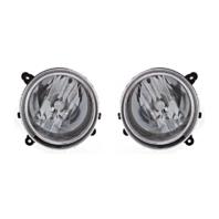 Fits 07-10 Jeep Compass & 07-16 Patriot L & R Headlamp Assem w/o leveling (pair)
