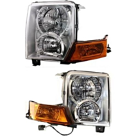 Fits 06-10 Jeep Commander Left & Right Halogen Headlamp Assemblies (pair)
